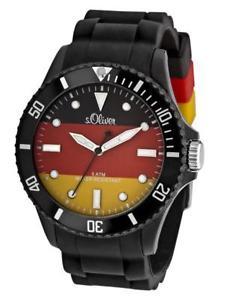【送料無料】腕時計 ウォッチ オリバーアラームドイツブラックシリコンアナログs oliver wm reloj alemania so2464pq analogico silicona negro