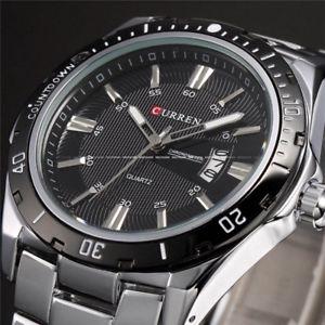 【送料無料】腕時計 ウォッチ フルステンレスアナログメンズクォーツウォッチcurren top luxury full stainless steel analog date mens quartz watch waterproof