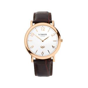 【送料無料】腕時計 ウォッチ ゴールデンプレートローザデルガドロンドンリンク¥enlaces de londres noble reloj de placa de oro rosa delgadototalmente nuevo, pvp 225