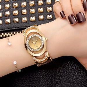 【送料無料】腕時計 ウォッチ ファッションカジュアルゴールドシルバーレディブレスレット2017 fashion casual wrist watch women gold silver lady bracelet golden wristwatc