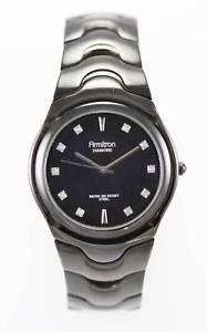 【送料無料】腕時計 ウォッチ ブラックステンレススチールmクロックnuevo anuncioarmitron reloj de hombre todo de acero inoxidable negro 50m resistente al agua