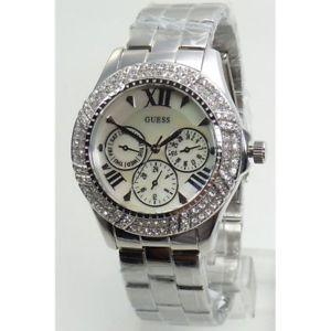 【送料無料】腕時計 ウォッチ アラームシルバーステンレススチールguess reloj mujer w0632l1 acero inox color plateado reloj mueca nuevo