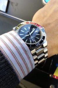 腕時計 ウォッチ イギリスブラックレッドプロダイバーステンレススチールクオーツスポーツダイバーズウォッチreino unido negrorojo sinobi pro diver cuarzo acero inoxidable reloj deportes b