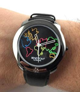 腕時計 ウォッチ ベネトンワールドマップビンテージアメリカウォッチorologio benetton bulova map of world mod dep watch  nos vintage quartz reloj