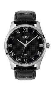 【送料無料】腕時計 ウォッチ ボスマンアナログクロックマスターブラックレザーboss master reloj hombre 1513585 analgico cuero negro