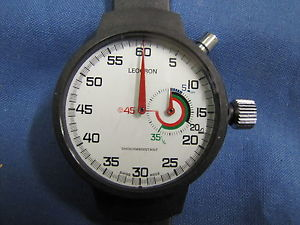 【送料無料】腕時計 ウォッチ スポルティーボクロノグラフヌオーヴォleocron cronografo da polso sportivo meccanico nero nuovo nos 269