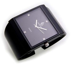 【送料無料】腕時計 ウォッチ レディクォーツexclusivo reloj seora negros cuarzo spangenuhr spange fantastico cuadradas