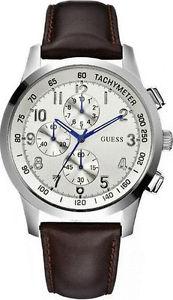 腕時計 ウォッチ クロックブラウンレザーベルトguess w13530g2 coastal reloj de hombre correa cuero marrn