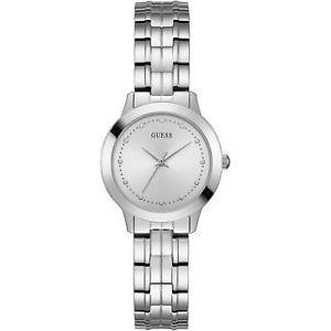 【送料無料】腕時計 ウォッチ チェルシーシルバーorologio guess chelsea w0989l1 watch acciaio donna zirconi 30 mm silver