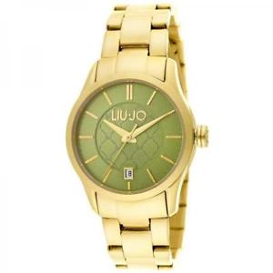 【送料無料】腕時計 ウォッチ ラグジュアリーリュジョドナテスゴールドヴェルデorologio donna liu jo luxury tess tlj939 bracciale acciaio gold dorato verde