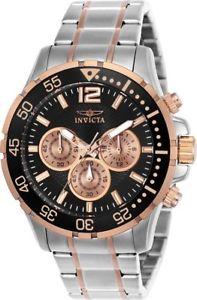 腕時計 ウォッチ クォーツクロノグラフブラックピンクゴールドフィールドアラームinvicta hombres specialty crongrafo de cuarzo negro,rosa oro esfera reloj 23667