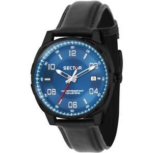 【送料無料】腕時計 ウォッチ セクタークロックレザーサブメートルreloj de hombre sector 890 r3251503001 cuero negro azul sub 100mt