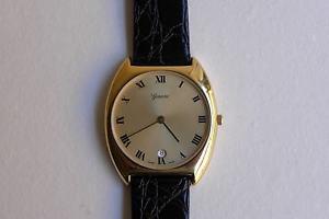 【送料無料】腕時計 ウォッチ ジュネーブレディースゴールデンオーバルスイスgeneve seores reloj de pulsera 31mm oval dorado fecha cuero eta 955412 swiss made