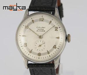 腕時計 ウォッチ ビンテージスチールダービーcauny vintage 365mm steel caliber derby 33