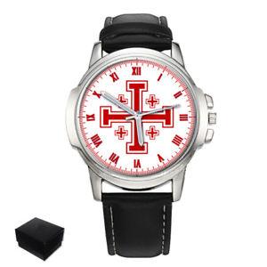 【送料無料】腕時計 ウォッチ エルサレムクロスreloj de pulsera cruz de jerusaln cruzados grande regalo grabado