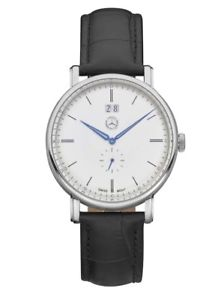 【送料無料】腕時計 ウォッチ メルセデスベンツスイスクラシックスチールブラックレザーオリジナル