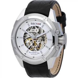 【送料無料】腕時計 ウォッチ セクターグランデsector 950 orologio maschile r3221581001 automatico pelle nero oversize grande