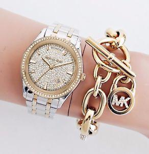 【送料無料】腕時計 ウォッチ ミハエルカラーゴールドシルバーガラスmichael kors reloj mujer mk6481 kiley bicolor color oroplatacristal nuevo