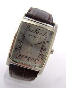 腕時計 ウォッチ クオーツアラームペンダントbergmann 1928 * rectangular * seores cuarzo reloj * colgante marrn