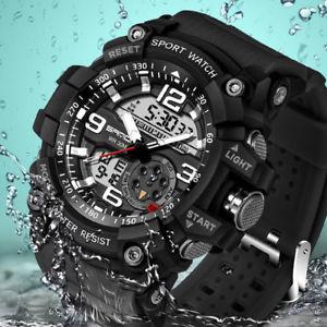 腕時計 ウォッチ スポーツウォッチデジタル2017 military sport watch men top luxury famous electronic led digital wrist w 0