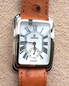 【送料無料】腕時計 ウォッチ アメリカヴィンテージnos nuevo kronos gold plated vintage watch 26,5 mm reloj cuero