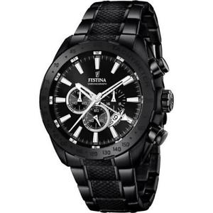 【送料無料】腕時計 ウォッチ クロックブラックプレステージnuevo reloj festina prestige f168891 negro chronometro por hombre