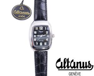 腕時計 ウォッチ ベルトスイスジュネーブreloj de pulsera altanus geneve para hombre fecha correa de cuero genuino hecho en suiza automtico