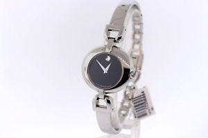 送料無料 腕時計 ウォッチ ステンレススチールmujer movado 特価 0605603 格安 価格でご提供いたします vivo de inoxidable esfera acero pulsera reloj negra