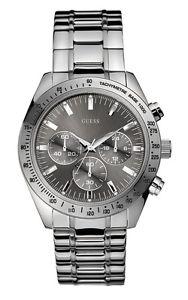 【送料無料】腕時計 ウォッチ チェイスマンステンレススチールシルバーベルトguess w13001g1 chase reloj de hombre correa acero inoxidable plata