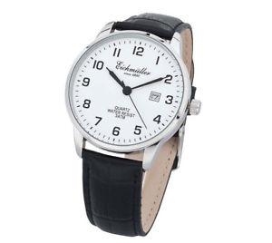 【送料無料】腕時計 ウォッチ ブラックレザーストラップアナログクォーツeichmller reloj de pulsera correa cuero negra hombre cuarzo analgico 3atm