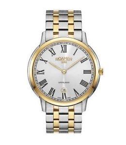 送料無料 腕時計 ウォッチ スイスクオーツステンレススチールトーンローマーブランドアラームroamer reloj para 人気 おすすめ hombre cuarzo suizo tonos de 47 inoxidable 22 515810 dos メーカー直売 acero 50