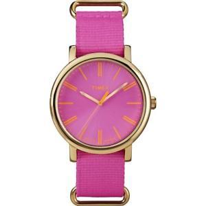 【送料無料】腕時計 ウォッチ オリジナルピンクゴールドorologio donna timex originals t2p364 tessuto rosa fucsia gold dorato indiglo