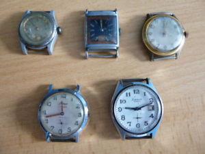 【送料無料】腕時計 ウォッチ lot de 5 montres anciennes  restaurer