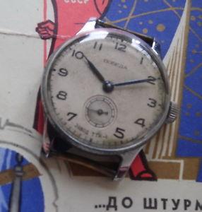 【送料無料】腕時計 ウォッチ ソpobeda montre mcanique ancienne 15 rubis made in urss petrodvorets 1953
