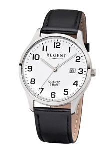 腕時計 ウォッチ アナログリージェントクロックregent reloj de hombre f1241 anlogo cuero negro