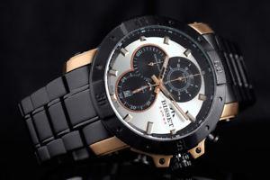腕時計 ウォッチ クロノグラフスイスbisset bsdd 90 argentum chronograph reloj hombre swiss made reloj de pulsera