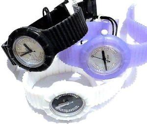 【送料無料】腕時計 ウォッチ ヒップホップガラスnuevos relojes de hip hop de 3 x 1 negro, 1 blanco y prpura 1rrp 2999ea cuadrante de cristal