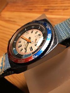 腕時計 ウォッチ ビンテージダイバーダブルクラウンペプシベゼルmontre vintage exacta diver double crown pepsi bezel jeanbrun 233 66