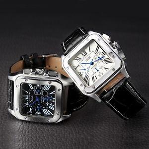 【送料無料】腕時計 ウォッチ サントスアラームブレスレットブラックウォッチ
