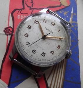 【送料無料】腕時計 ウォッチ ソpobeda montre mcanique ancienne 16 rubis made in urss 1 mchz kirova 1950