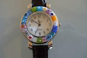 【送料無料】腕時計 ウォッチ ムラノガラスムラーノトレンドモードアラームブラックmurano tgn, murano vidrio tendencia mode reloj, joyas seora reloj negro nuevo