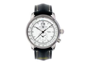 腕時計 ウォッチ ツェッペリンアラームパイロットデュアルタイムゾーンzeppelin reloj pilotos 76404 100 aos de cuarzo con 2 zonas tiempo hora dual