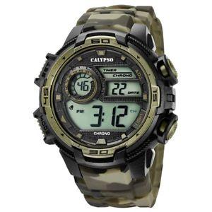 【送料無料】腕時計 ウォッチ アラームカリプソマンマルチカラーデジタルクロノグラフreloj calypso hombre k57236 multicolor verde crongrafo digital