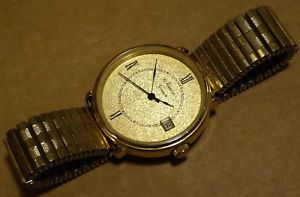 【送料無料】腕時計 ウォッチ ニュートンクォーツムーブメントメッキブリスター6 joyas movimiento de cuarzo reloj para caballero, ton, con fecha, chapado en oro, estuche de 35 mm