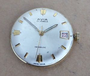 【送料無料】腕時計 ウォッチ ナイツクロックcaballeros avia reloj con la fecha, calibre fontainemelon 734n, todo funciona bien