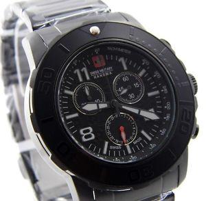 【送料無料】腕時計 ウォッチ スイスチェッカーボードアラームクロノブラック