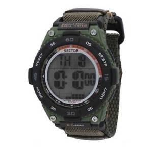 【送料無料】腕時計 ウォッチ セクターデュアルタイムorologio uomo sector,digitale,dual time,allarme,47 mm,verde militare,100 metri