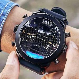 【送料無料】腕時計 ウォッチ ビッグマンデジタルスポーツウォッチreloj de cuarzo 611 nuevo deportivo de hombre grande hombres relojes de pulsera cuarzo negro led digital