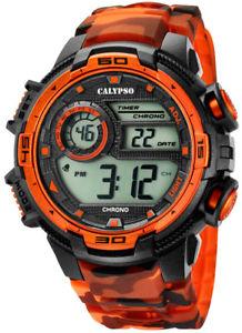 【送料無料】腕時計 ウォッチ カリプソアラームデジタルクォーツブラックオレンジプラスチックcalypso reloj de cuarzo digital alarma negronaranja de plstico k57235