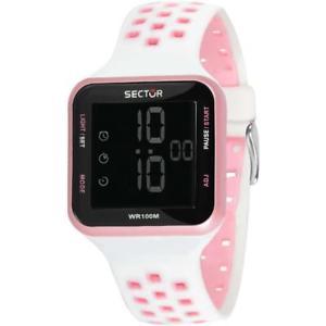 【送料無料】腕時計 ウォッチ セクターシリコンビアンコローザクロノorologio donna sector ex14 r3251509003 digitale silicone bianco rosa chrono